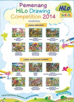 Pemenang HiLo School Drawing Competition 2014 tingkat Nasional
