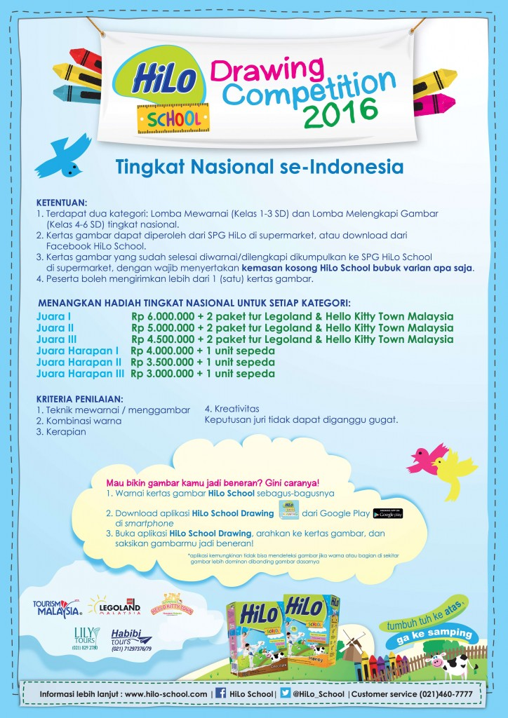 lomba mewarnai hilo school drawing competition 2016