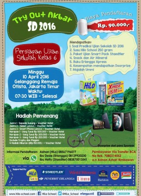 Try Out Akbar SD 2016 bersama HiLo School