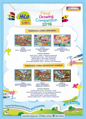 Pemenang HiLo School Drawing Competition 2016 bersama Indomaret