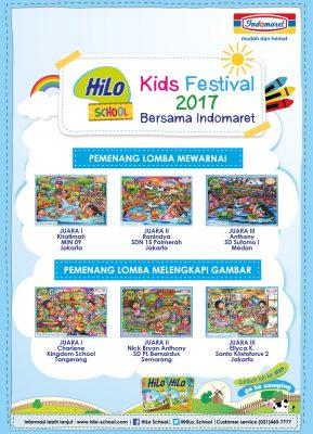 Pemenang HiLo School Kids Festival 2017 bersama Indomaret